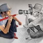 КАРАНДАШ против камеры | Ben Heine