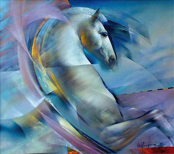 мустанг, белый конь