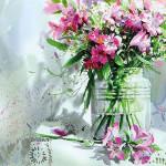 АКВАРЕЛЬНЫЙ натюрморт и цветы | Shin Jong Sik