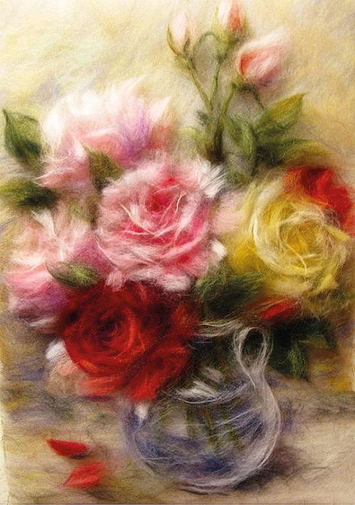 розы вышивка