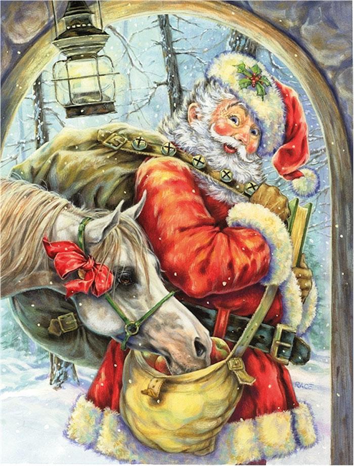 Санта с мешком