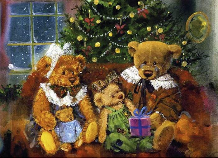 Тедди с медведицей