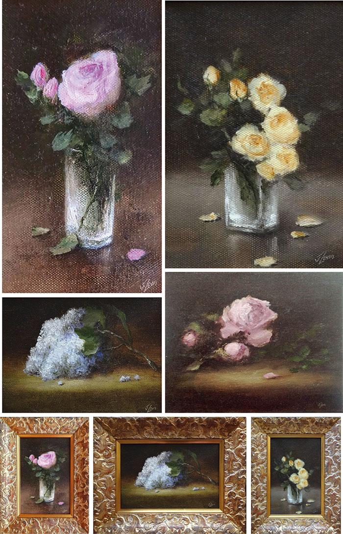 Натюрморты с цветами 3