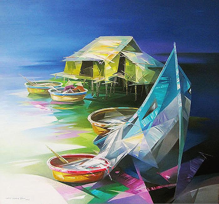 лодки река