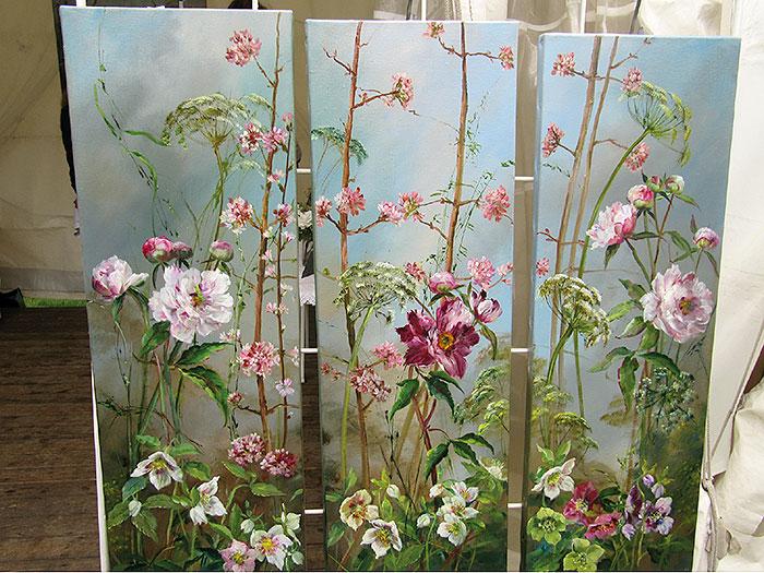 цветочные полотна