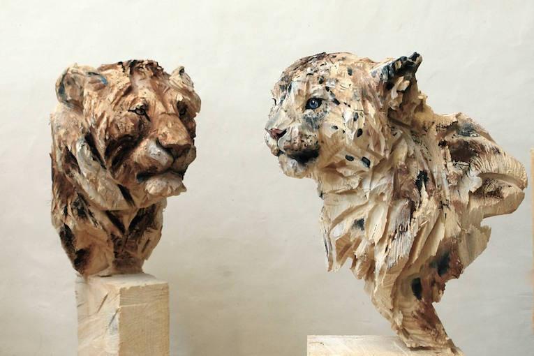 Гепард и лев