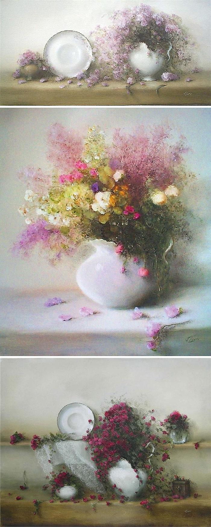 Натюрморты с цветами 2