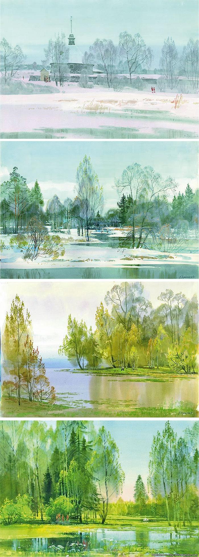 Весенние пейзажи 1
