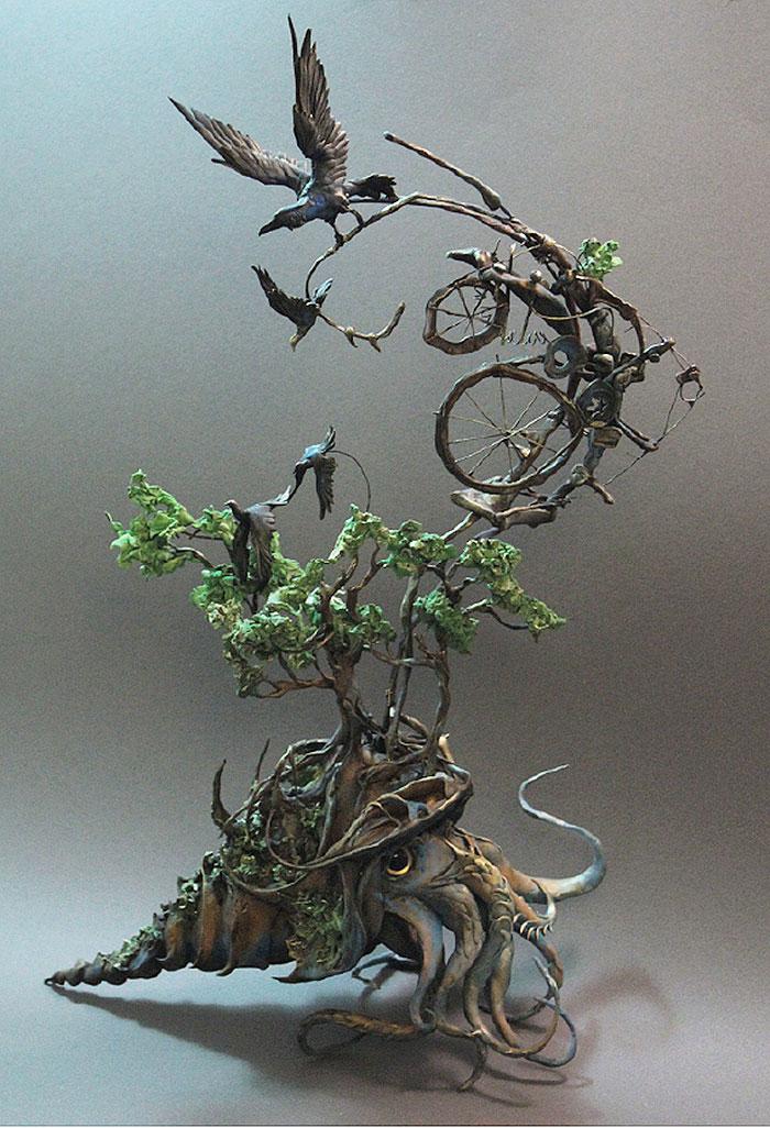 Осьминог и птицы