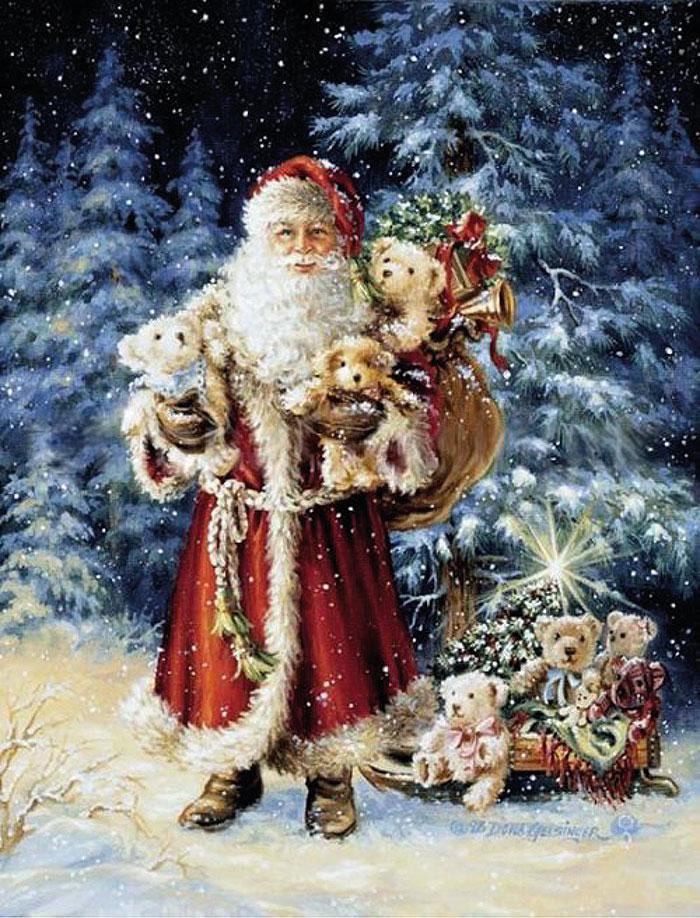 Санта-Клаус с игрушками