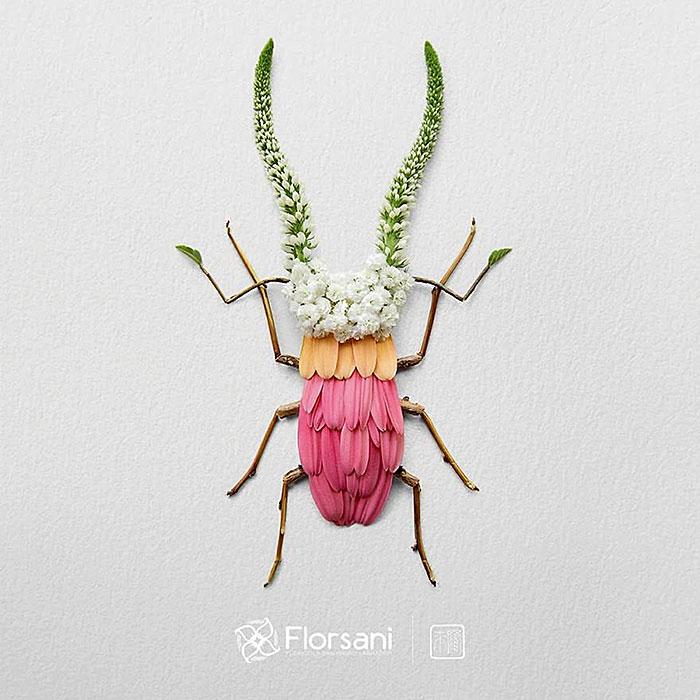 жук из цветов