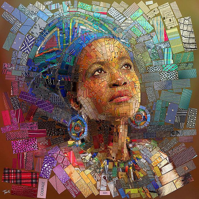 в африканском стиле